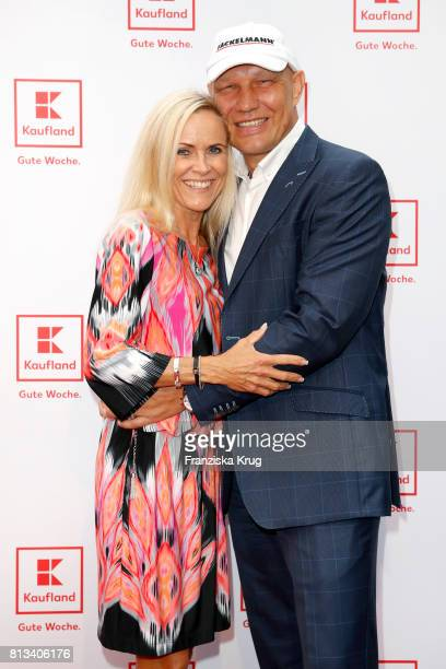 Axel Schulz and his wife Patricia Schulz attend the Kaufland Hosts VIP BBQ at OberhafenKantine on July 12 2017 in Berlin Germany