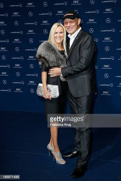 Axel Schulz and his wife Patricia Schulz attend the Laureus Media Award 2012 on November 05 2012 in Kitzbuehel Austria