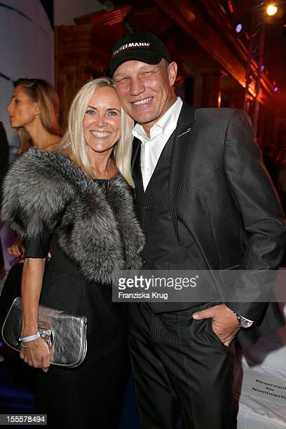Axel Schulz and his wife Patricia Schulz attend the Laureus Media Award 2012 on November 05, 2012 in Kitzbuehel, Austria.