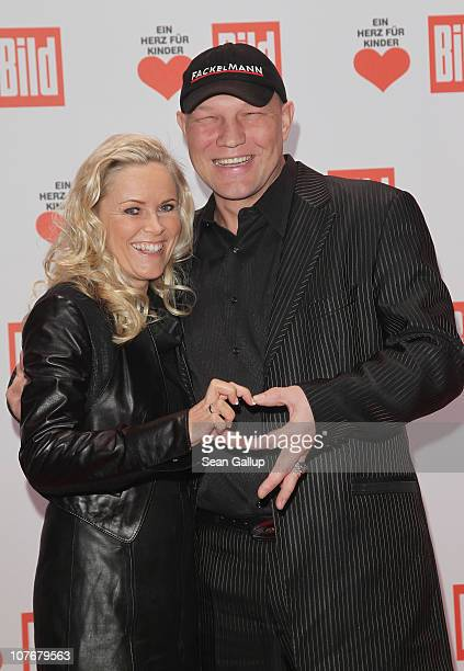 Axel Schulz and Patricia Reich attend the 'Ein Herz Fuer Kinder' charity gala at Axel Springer Haus on December 18 2010 in Berlin Germany