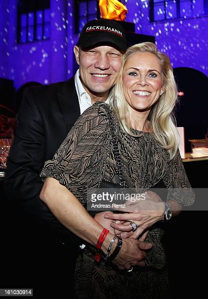 Axel Schulz and Patricia Schulz attend the Festival Night by Bunte and BMW at Humboldt Carre on February 8 2013 in Berlin Germany