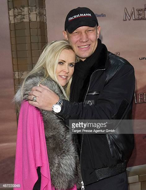 Axel Schulz and Patricia Schulz attend the German premiere of the film 'The Physician' at Zoo Palast on December 16 2013 in Berlin Germany