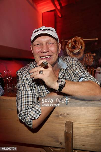 Axel Schulz with cigar during the Weisswurstparty at Hotel Stanglwirt on January 20 2017 in Going near Kitzbuehel Austria