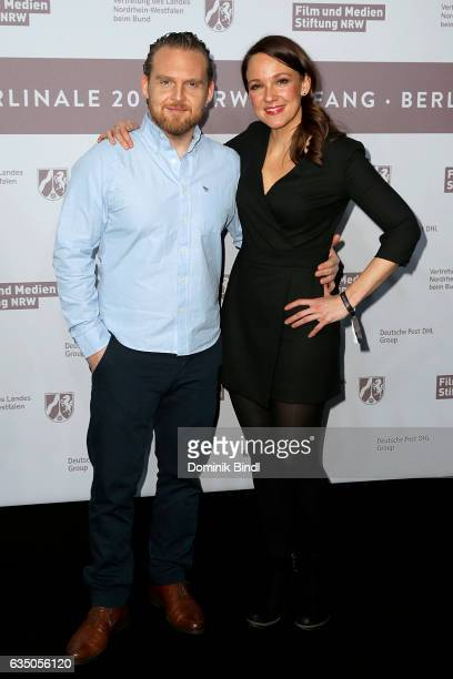 Axel Stein and Carolin Kebekus attend the NRW Reception at the Landesvertretung during the 67th Berlinale International Film Festival on February 12...