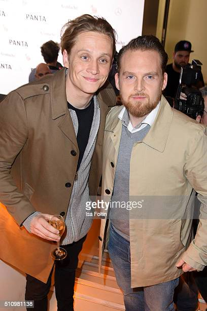 Axel Stein and Matthias Schweighoefer attend the PantaFlix Party on February 17 2016 in Berlin Germany