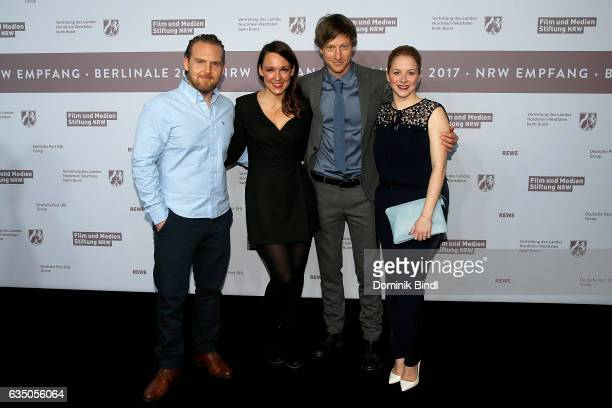 Axel Stein Carolin Kebekus Maxim Mehmet and Jasmin Schwiers attend the NRW Reception at the Landesvertretung during the 67th Berlinale International...