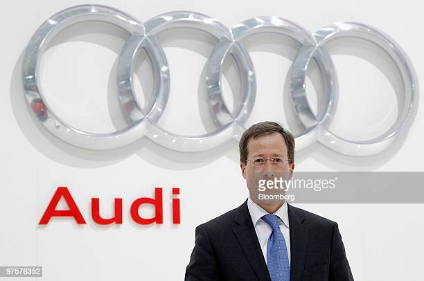 Axel Strotbek chief financial officer of Audi AG poses for photographers ahead of the company's full year earnings press conference in Ingolstadt...