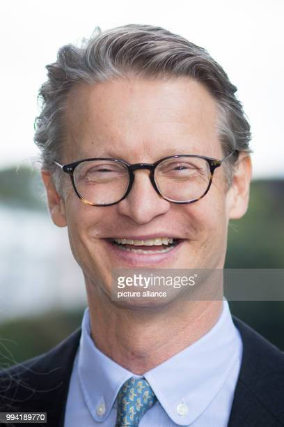 Axel Sven Springer grandson of publisher Axel Springer participates in a senate breakfast in the guest house of the senate at the Alster river in...