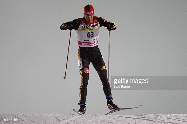 Axel Teichmann of Germany competes during the Men's 37km Prologue of the FIS Tour De Ski at the DKB Arena on January 1 2010 in Oberhof Germany