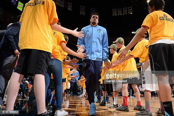 Axel Toupane of the Denver Nuggets before the game against the Sacramento Kings during the game on April 2 2016 at Pepsi Center in Denver Colorado...
