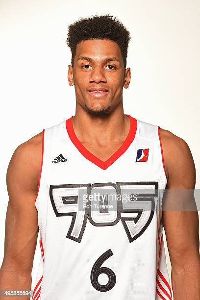 Axel Toupane of the Toronto 905 poses for a head shot during the NBA DLeague Media Day on November 4 2015 at the Hershey Centre in Mississauga...