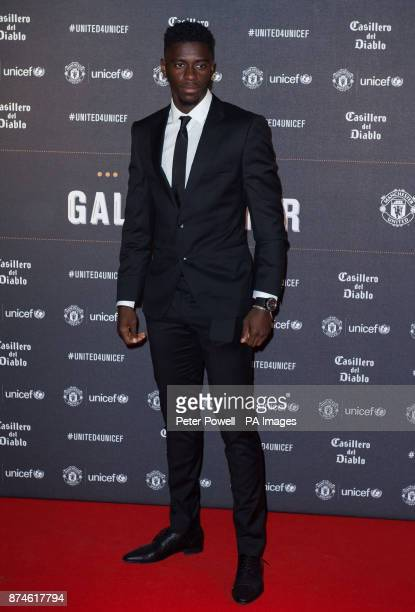 Axel Tuanzebe attends a gala dinner at Old Trafford in Manchester held by Manchester United and Unicef to raise funds for the charity