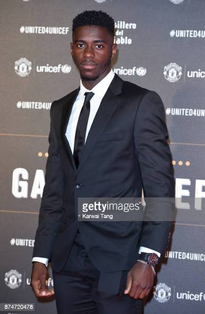 Axel Tuanzebe attends the United for Unicef Gala Dinner at Old Trafford on November 15 2017 in Manchester England