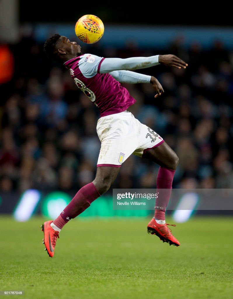 Axel Tuanzebe of Aston Villa during the Sky Bet Championship match between Aston Villa and Preston North End at Villa Park on February 20, 2018 in Birmingham, England.