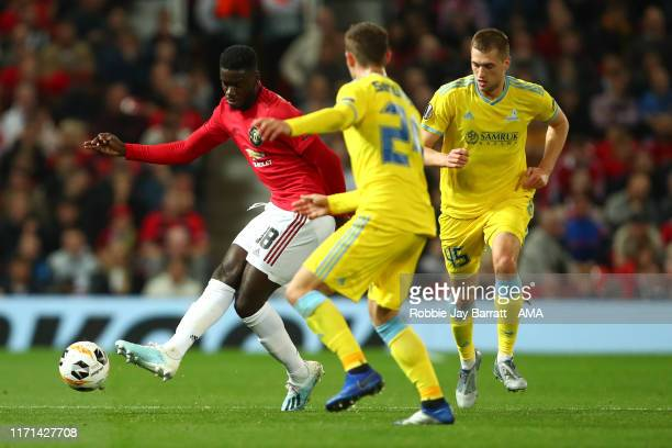 Axel Tuanzebe of Manchester Unite during the UEFA Europa League group L match between Manchester United and FK Astana at Old Trafford on September 19...
