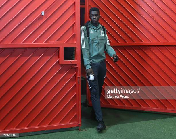 Axel Tuanzebe of Manchester United arrives ahead of the Premier League match between Manchester United and Southampton at Old Trafford on December 30...