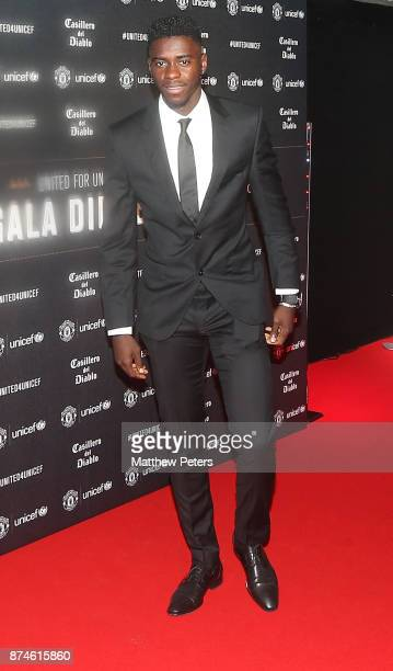 Axel Tuanzebe of Manchester United attends the annual United for UNICEF gala dinner at Old Trafford on November 15 2017 in Manchester England