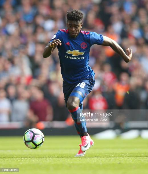 Axel Tuanzebe of Manchester United during the Premier League match between Arsenal and Manchester United at Emirates Stadium on May 7 2017 in London...