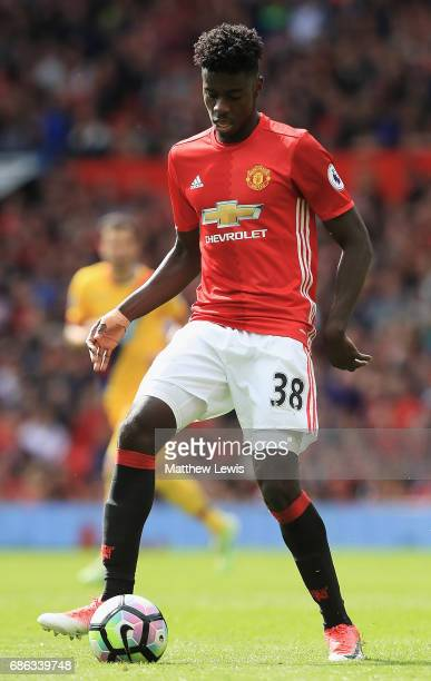 Axel Tuanzebe of Manchester United in action during the Premier League match between Manchester United and Crystal Palace at Old Trafford on May 21...