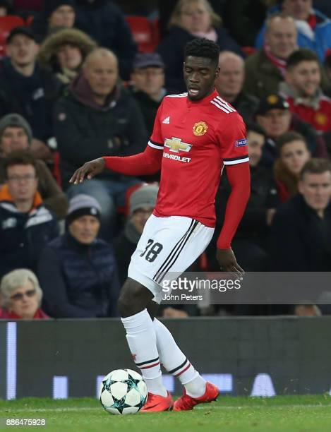 Axel Tuanzebe of Manchester United in action during the UEFA Champions League group A match between Manchester United and CSKA Moskva at Old Trafford...