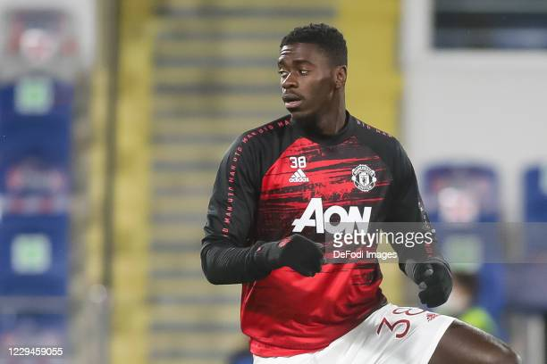 Axel Tuanzebe of Manchester United looks on prior to the UEFA Champions League Group H stage match between Istanbul Basaksehir and Manchester United...