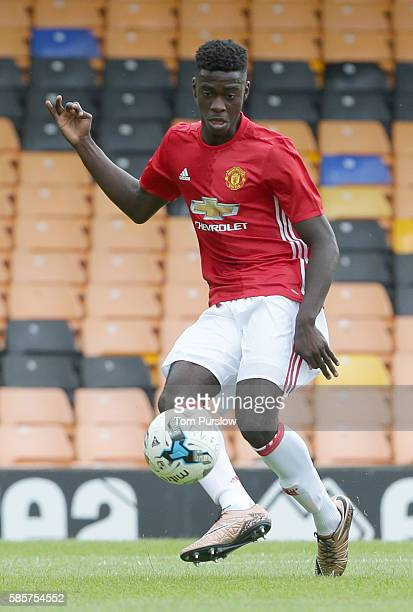 Axel Tuanzebe of Manchester United U21s in action during the preseason friendly between Port Vale and Manchester United U21s at Vale Park on July 30...