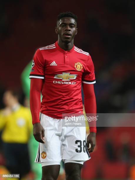 Axel Tuanzebe of Manchester United walks off after the UEFA Champions League group A match between Manchester United and CSKA Moskva at Old Trafford...