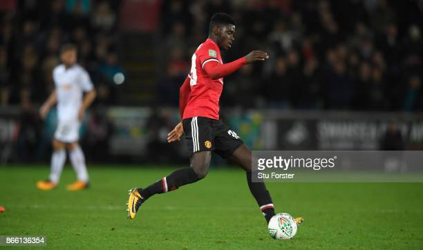 Axel Tuanzebe of United in action during the Carabao Cup Fourth Round match between Swansea City and Manchester United at Liberty Stadium on October...