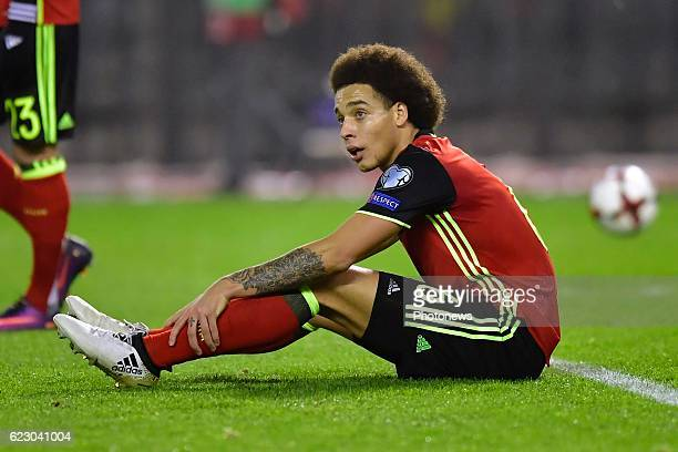 Axel Witsel midfielder of Belgium looks on during the World Cup Qualifier Group H match between Belgium and Estonia at the King Baudouin Stadium on...