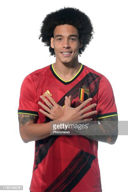 Axel Witsel midfielder of Belgium pictured during a photo session presenting the new jersey of the Belgian National Football Team prior to the Euro...