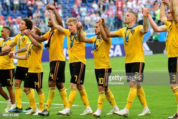 Axel Witsel midfielder of Belgium Vincent Kompany defender of Belgium Kevin De Bruyne forward of Belgium Eden Hazard midfielder of Belgium adn Toby...