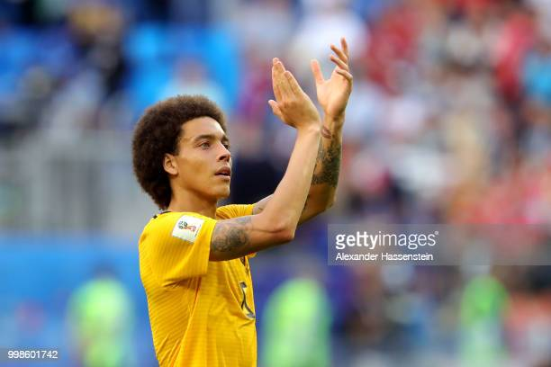 Axel Witsel of Belgium applauds fans after the 2018 FIFA World Cup Russia 3rd Place Playoff match between Belgium and England at Saint Petersburg...