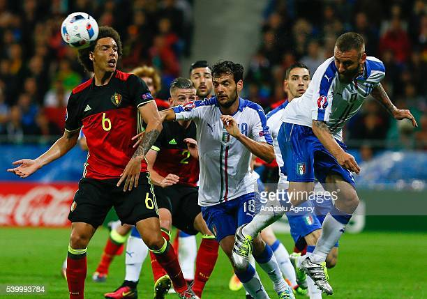 Axel Witsel of Belgium in action during the EURO 2016 Group E football match between Belgium and Italia, at the Stade de Lyon in Lyon, France on June...