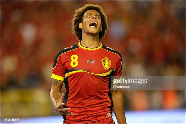 Axel Witsel of Belgium shouts out his frustration during a FIFA international friendly match between Belgium and The Netherlands at the King Baudouin...