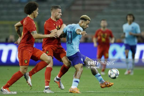 Axel Witsel of Belgium Toby Alderweireld of Belgium Memphis Depay of Holland during the International friendly match between Belgium and The...