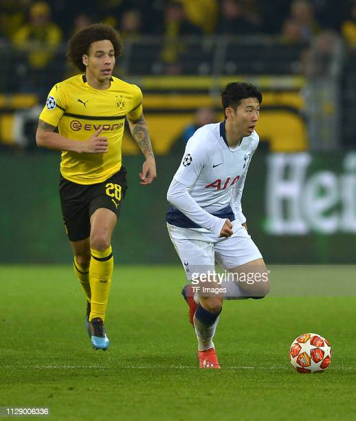 Uefa Champions League Round Of: Heung Min Son Stock Photos And Pictures