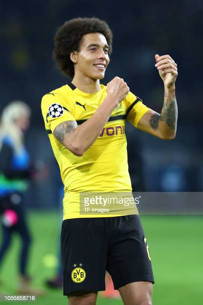 5dacf82201f Axel Witsel of Borussia Dortmund celebrates after winning the Group A match  of the UEFA Champions
