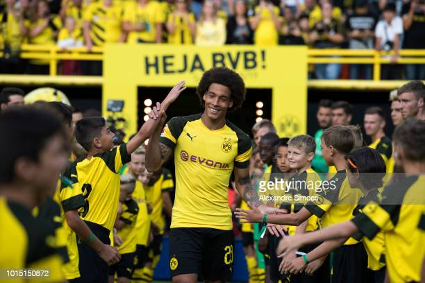 Axel Witsel of Borussia Dortmund during the team presentation at the Signal Iduna Park on August 11 2018 in Dortmund Germany