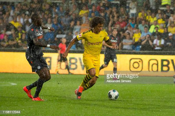 Axel Witsel of Borussia Dortmund in action during a friendly match against Udinese Calcio as part of Borussia Dortmund's Training Camp at the...