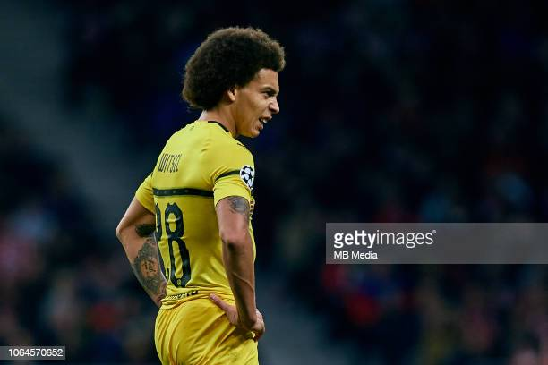 Axel Witsel of Borussia Dortmund looks on during the Group A match of the UEFA Champions League between Club Atletico de Madrid and Borussia Dortmund...