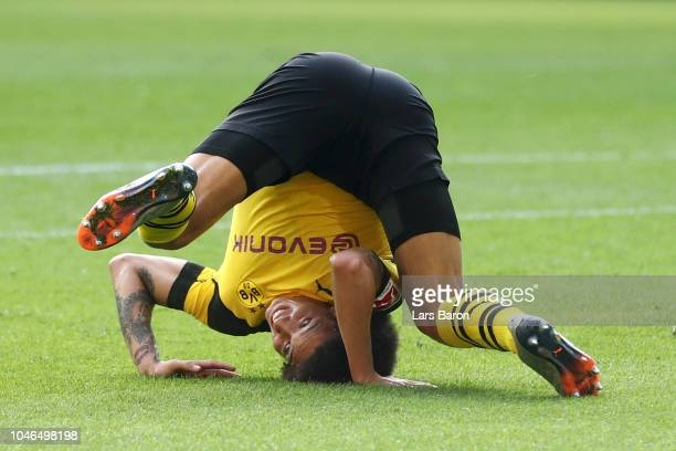 Axel Witsel of Borussia Dortmund reacts during the Bundesliga match between Borussia Dortmund and FC Augsburg at Signal Iduna Park on October 6 2018...