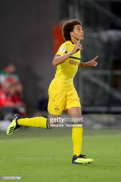 Axel Witsel of Dortmund reacst during the DFB Cup first round match between SpVgg Greuther Fuerth and BVB Borussia Dortmund at Sportpark Ronhof...