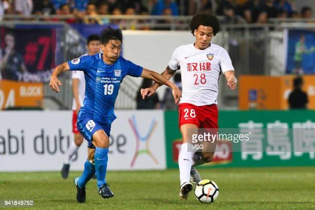 Axel Witsel of Tianjin Quanjian controls the ball during AFC Champions League Group E match between Kitchee SC and Tianjin Quanjian at the Mongkok...