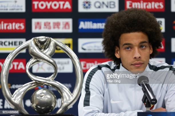 Axel Witsel of Tianjin Quanjian looks during the press conference before the 2018 AFC Champions League match between Kasshiwa Reysol and Tianjin...