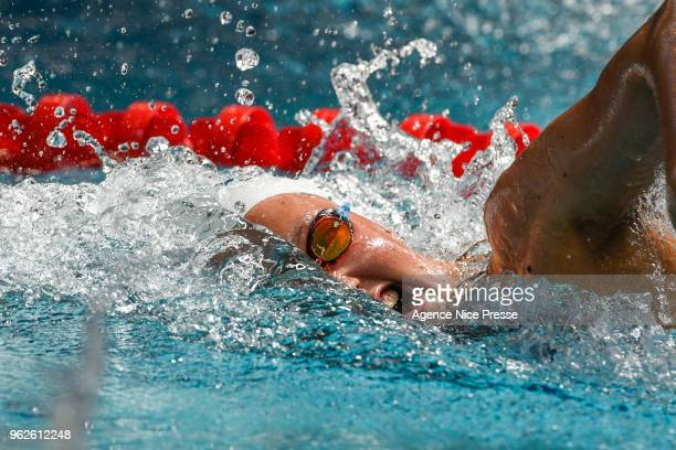 Axelle Cara 100m freestyle during the French National swimming championship on May 26 2018 in Saint Raphael France