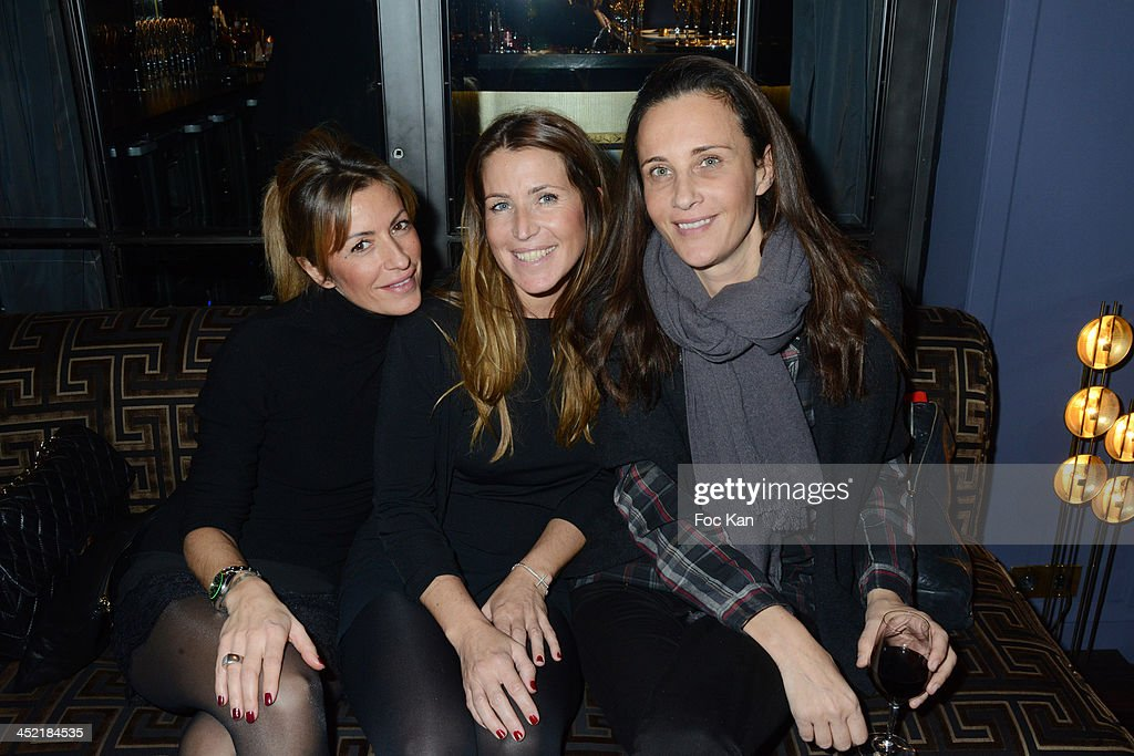 Axelle Evrard, Sandrine Diouf and Clara Paban attend The Burgundy Hotel Compilation CD Launch Party on November 26, 2013 in Paris, France.