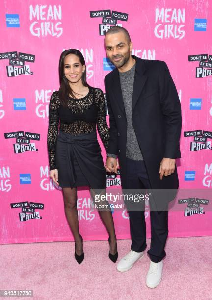 Axelle Francine and Tony Parker attend the opening night of Mean Girls on Broadway at August Wilson Theatre on April 8 2018 in New York City