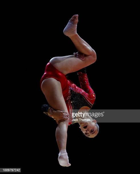 Axelle Klinckaert of Belgium competes on the balance beam during Rotation 1 of the Team Women event qualification subdivision 3 during the Team Women...