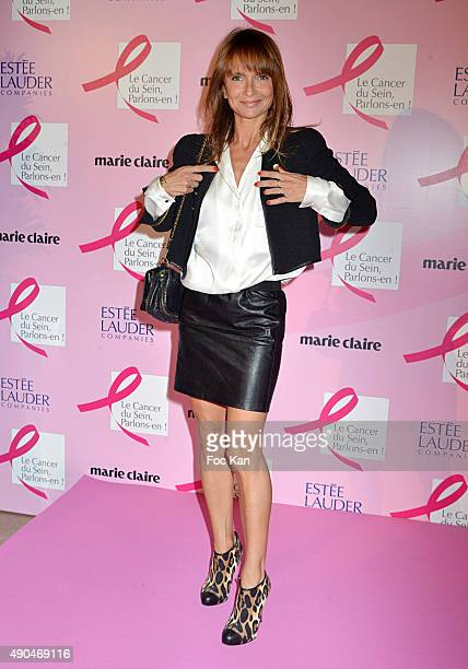 Axelle Laffont attends the 'Octobre Rose 2015' Party To Benefit Breast Cancer Research hosted by Estee Lauder At the Palais National De Chaillot on...