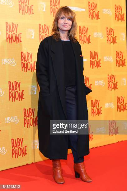 Axelle Laffont during Baby Phone Paris Premiere at Cinema UGC Normandie on February 20 2017 in Paris France